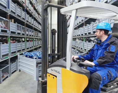 Trustworthy partner with warehouses and production